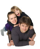 Happy family mum, the daddy, the son Royalty Free Stock Image