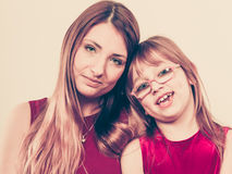 Happy family. Mum and daughter. Stock Photography
