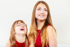 Happy family. Mum and daughter. Stock Image