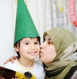 Happy family muslim. An a happy family muslim royalty free stock photo