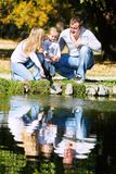 Happy family on nature Stock Images