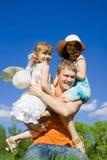 Happy family on the nature Stock Photo