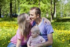Happy family on nature Stock Photo