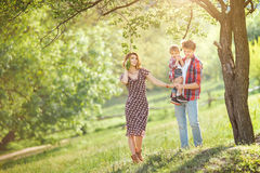 Happy Family on the Nature Royalty Free Stock Images