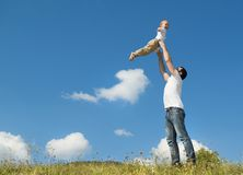 Happy family in nature Royalty Free Stock Photography
