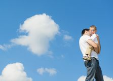 Happy family in nature Royalty Free Stock Images