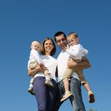 Happy family in nature Royalty Free Stock Image