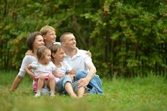Happy family at nature Royalty Free Stock Images