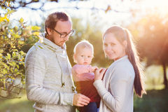 Happy family in nature Stock Image