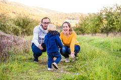 Happy family in nature Stock Images