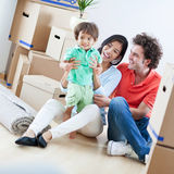 Happy Family In New Home Royalty Free Stock Image