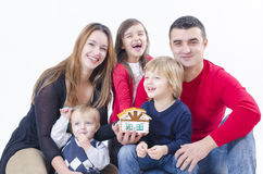Happy Family in a new house Royalty Free Stock Images