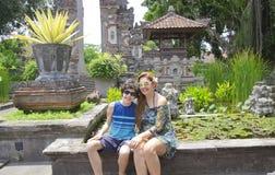Happy family in Nusa dua,Bali,Indonesia Stock Photography