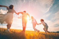 Free Happy Family On Autumn Walk Royalty Free Stock Image - 157622146