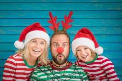 Free Happy Family On Christmas Eve Stock Photo - 103677510