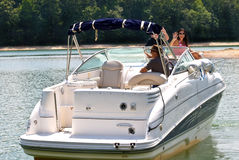 Free Happy Family On Large Boat Stock Images - 11139074