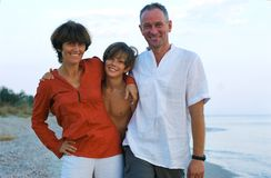 Free Happy Family On The Beach. Stock Image - 33127401