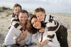 Free Happy Family On The Beach Royalty Free Stock Photo - 4211385