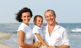Happy Family with one children Stock Images