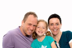 Happy family with one daughter Stock Photography