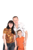 Happy family with one kid Royalty Free Stock Photography