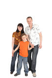 Happy family with one kid Stock Image