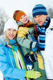 Happy family outdoor Royalty Free Stock Photography