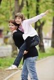 Happy family outdoor Stock Photography