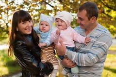 Happy family outdoor Stock Image