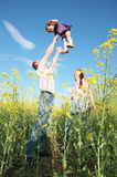 Happy family outdoor Royalty Free Stock Images