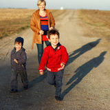 Happy family outdoor Royalty Free Stock Image