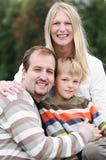 Happy family outdoors Royalty Free Stock Photos