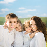 Happy family outdoors Stock Photography
