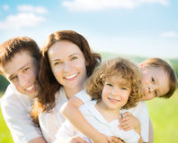 Happy family outdoors Royalty Free Stock Photo