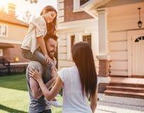 Happy Family Outdoors Royalty Free Stock Image
