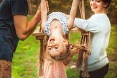 Happy family outdoors Stock Photography