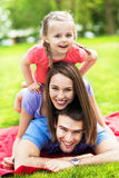 Happy family outdoors Royalty Free Stock Photography