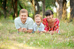 Happy family outdoors. Summer holiday. Royalty Free Stock Images
