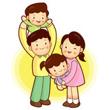 Happy Family outing. Families Character Royalty Free Stock Photos