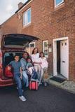 Happy Family Outing stock photos