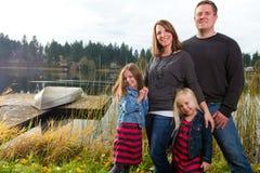 Happy Family Outsid Royalty Free Stock Image