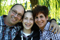 Happy family. Outside in nature Stock Photos