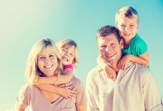 Happy Family Outside Royalty Free Stock Photos