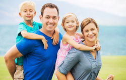 Happy Family Outside Stock Photography