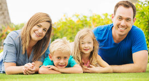 Happy Family Outside Royalty Free Stock Image