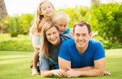 Happy Family Outside Stock Photos