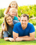 Happy Family Outside Royalty Free Stock Images