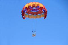 Happy Family Parasailing Royalty Free Stock Photography