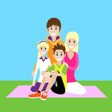 Happy Family, Parents With Children Love Smile Stock Image