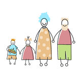 Happy Family Parents Kid Holding Hands Stock Photography